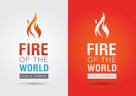 ci: Fire of the world sign icon symbol info graphic. Creative marketing. Environmental social enterprise.