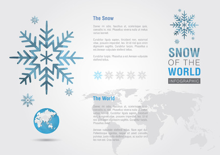 ci: Snow of the world. Eco info graphic. Creative marketing. Business success. Illustration