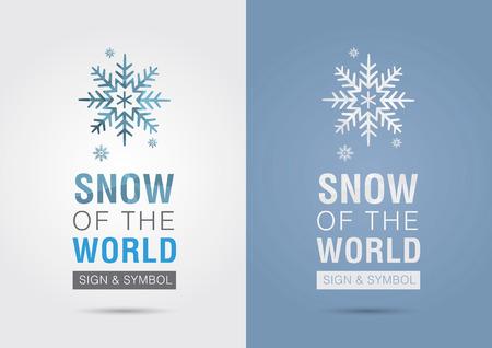 ci: Snow of the world. Eco info graphic icon. Creative marketing. Business success. Illustration