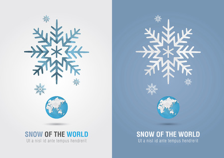 Snow of the world. Eco info graphic icon. Creative marketing. Business success. Illustration