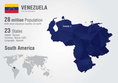 Venezuela World Map With A Pixel Diamond Texture World Geography ...