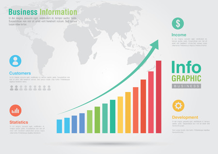 Business bar chart infographic  Business report creative marketing  Business success
