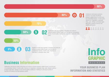 Business bar percentage chart infographic  Business report creative marketing  Business Success  Illustration