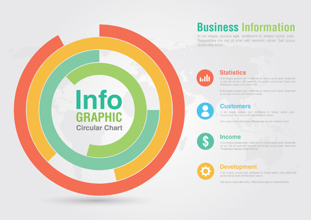 ci: Business circular chart infographic. Business report creative marketing. For your business success.