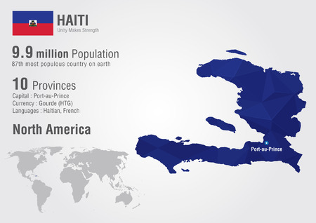 haiti: Haiti world map with a pixel diamond texture  World geography