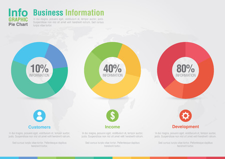 grafica de pastel: Business Report gráfico circular infografía Éxito de comercialización de negocios creativos Vectores