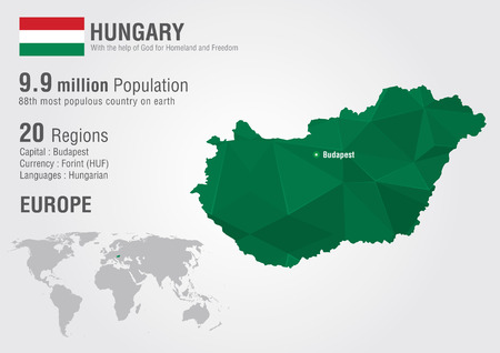 populous: Hungary world map with a pixel diamond texture  World geography