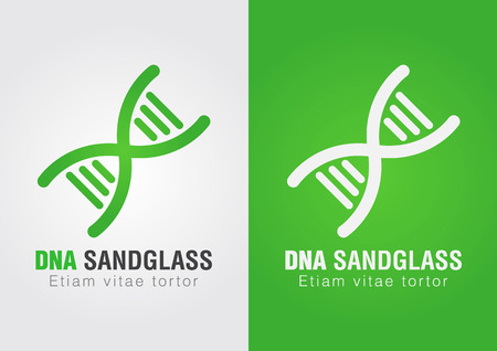 ci: DNA Sandglass combination sign symbol  Creative Design  Business success  Illustration