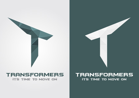 T Transformers icon symbol from an alphabet letter T. Creative design. Illustration