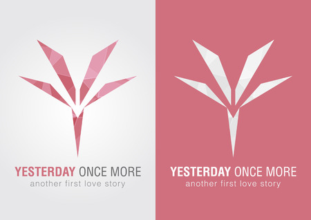 once: Y Yesterday once more icon symbol from an alphabet letter Y. Modern Flower. Illustration