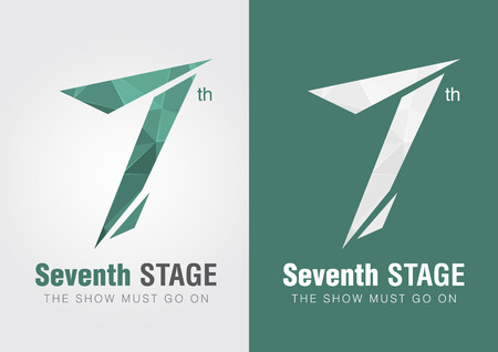 7th Stage icon symbol from an alphabet letter number 7. Creative design. Vector