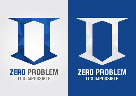 0 Problem icon symbol from an alphabet letter number zero. Creative design. Vector