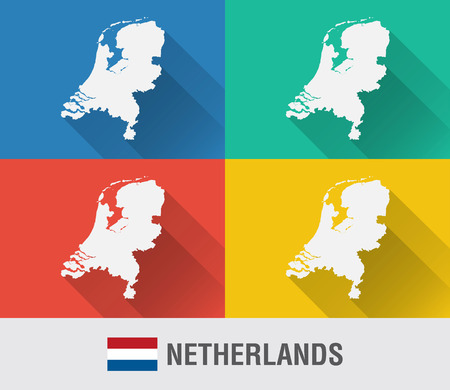 Netherland world map with a pixel diamond texture. World geography. Vector