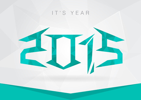 2015 Year icon symbol signage. New year with a pixel diamond texture.Creative business.