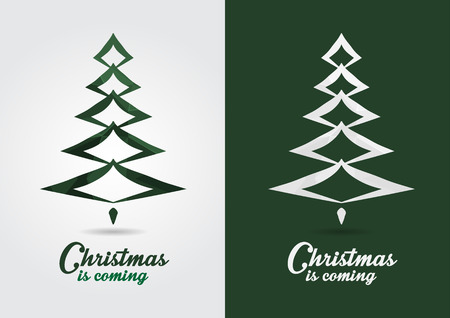 ci: Christmas icon symbol signage. Creative style event icon. Christmas is coming. Illustration