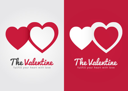 ci: The Valentines day. Fullfill your heart with love. Its a destiny. Illustration