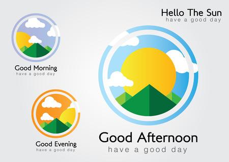 こんにちは、太陽。我々 は良い一日を過ごします。朝、午後、夕方。