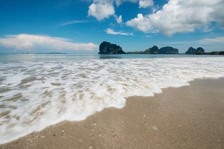 seaboard: Waves breaking on the beach