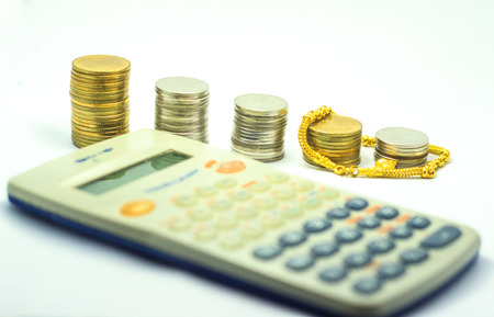 money gold calculator Stock Photo - 24296872