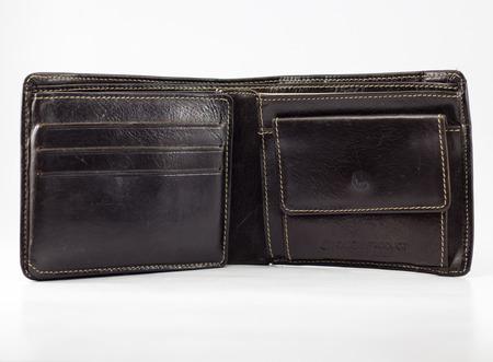 tight filled: black wallet