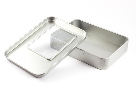 unclosed: Steel box Stock Photo