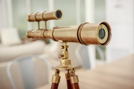 빈티지 황동 망원경