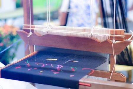 Matériel de tissage Tissage domestique à la main, c'est l'art et l'artisanat de la Thaïlande