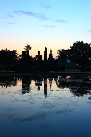 Ancient buddha statue  Sukhothai Historical Park, Sukhothai Province, Thailand photo