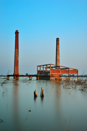 Mill abandoned due to flooding photo