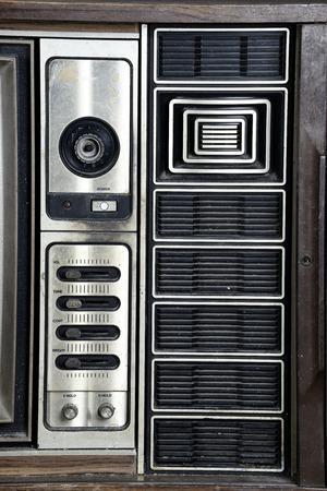 vintage television: Speaker of vintage television Stock Photo
