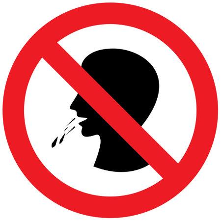 Do not spit saliva Vector