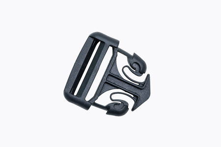 buckles: Plastic buckle or fastex buckles isolated on white background. Stock Photo