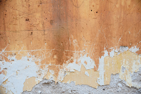 Rust stains on the grunge concrete wall Stock Photo