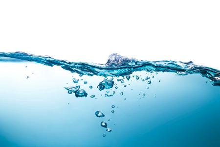 water waves Splashed water wave in clean blue water