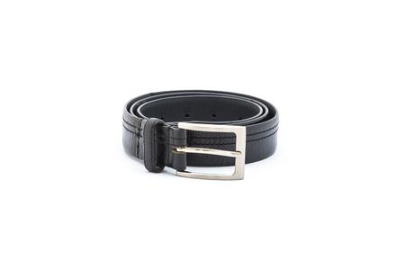 chrome man: black belt on white background