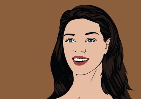 Lady smile Ilustração