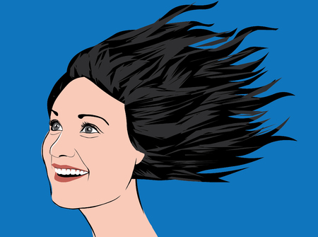 Lady smile2 Ilustração