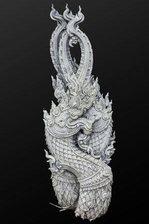 Naga statues on black Imagens