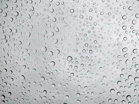 Drops of water on glass Imagens