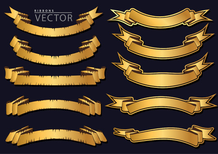 Old and classical ribbons vector