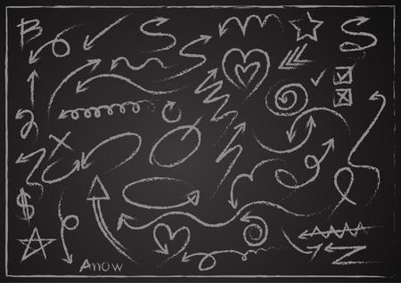 Arrows drawing vector Ilustração