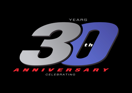 25th anniversary celebrating 3d logo gray and blue color on gray