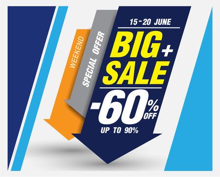 Template of super sale poster banner Ilustração