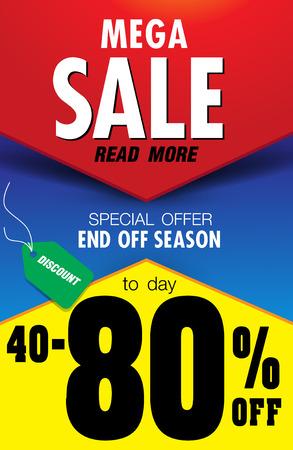 Template super sale poster banner Illustration