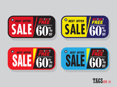 Vector labels special offer for design banners