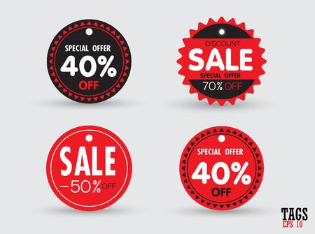 Set van verkoop tags vector illustratie