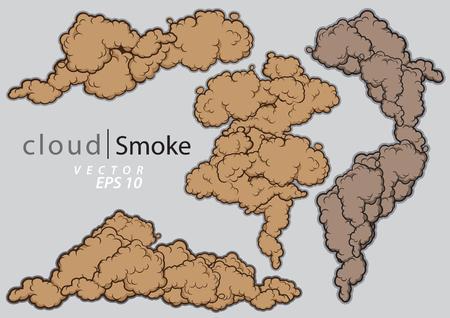 Stoomwolken instellen Stock Illustratie