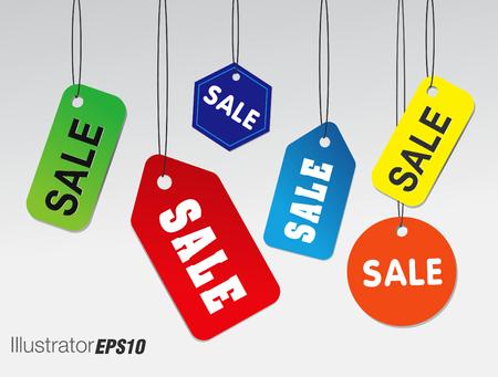Sjabloon verkoop banner Vector illustratie