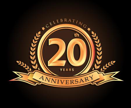 20ste verjaardag vieren klassiek vector logo ontwerp