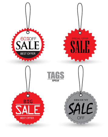 Set of sale tags with. Vector labels special offer for design banners and flyers. Isolated from the background